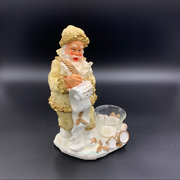 Santa with votive candle holder